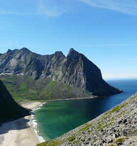 Plage de la baleine Norvège