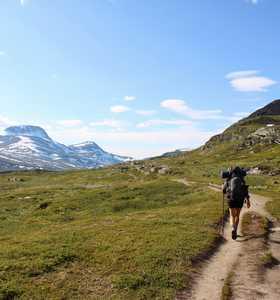 Randonnée dans la nature suédoise