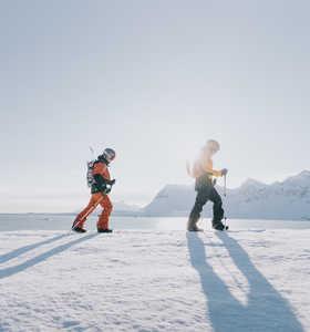 Randonnée ski au Svalbard l'hiver