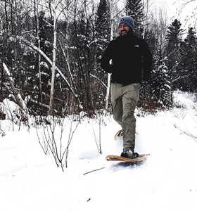 Raquettes l'hiver au Québec