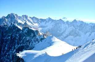 Alpinisme; ascension du mont-blanc