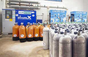 Compresseurs et bouteilles : la zone technique