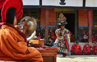 Danse religieuse bouddhiste au festival de Tiji