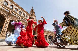 Danseuses de flamenco à Séville