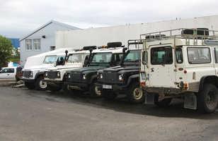 Defenders, land rover Islande