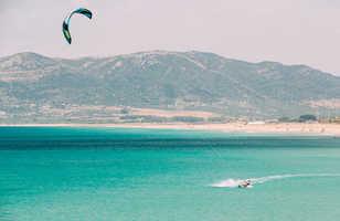 Kitesurf à Tarifa, Espagne