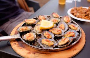 Lapas grelhadas ou patelles, plat typique des Açores