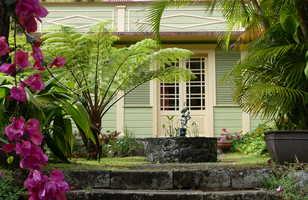 Les magnifiques cases d'Hell-Bourg, la Réunion