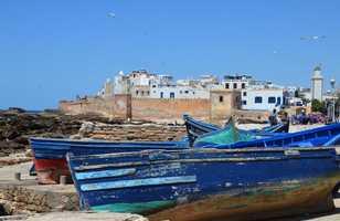 Les remparts d'Essaouira, Maroc