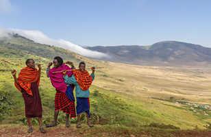 Maasai Shepherds, Ngorongoro, Tanzanie