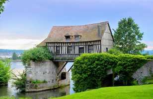 Maison à colombages normande