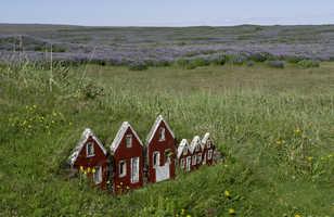 Maisons d'elfes en Islande