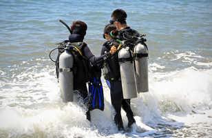 Mise à l'eau depuis la plage, pour un démarrage en douceur