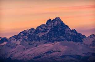 Mont Viso au coucher du soleil