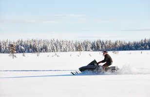 Motoneige en Laponie finlandaise