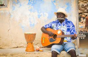 Musicien dans la rue de Boa Vista