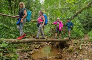 Randonneurs dans le Parc naturel de Topes de Collantes