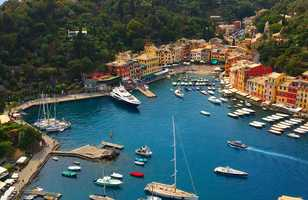 Portofino vue des sentiers pédestre