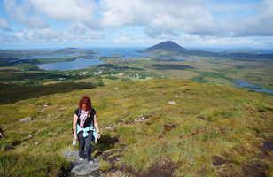 Randonnée au Diamond Hill, National park du Connemara