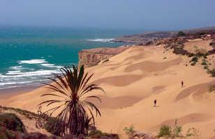 randonnée dunes côte atlantique maroc