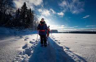 Randonnée raquettes en Laponie