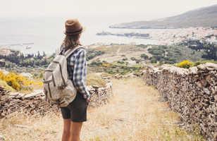 Randonneuse sur les sentiers de Grèce, Andros