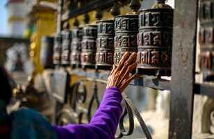 Roues de prière du Stupa de Swayambhunath