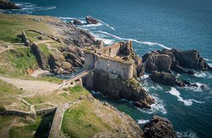 Ruine d'un château à l'île d'Yeu