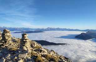 Vue sur le Dévoluy depuis le Vercors, Grande Moucherolle, Alpes du Nord