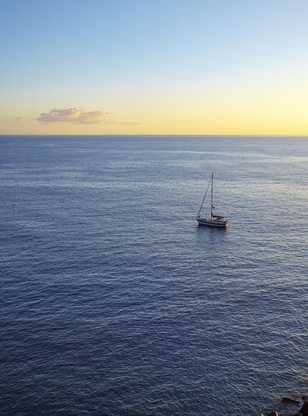 Bateau près de Tenerife
