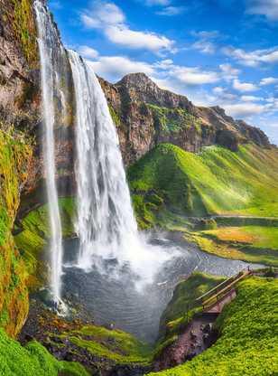 Cascade fantastique de Seljalandsfoss