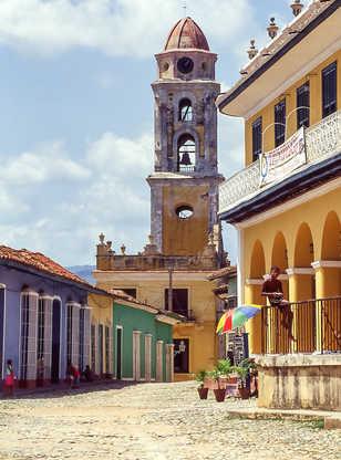 Clocher de l'église de San Francisco à Trinidad