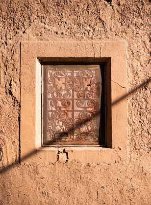 Détail d'une fenêtre marocaine