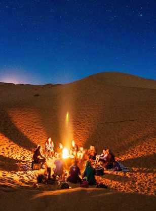 Feu au bivouac, Maroc