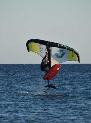 wingsurf session à Limnos avec ION CLUB
