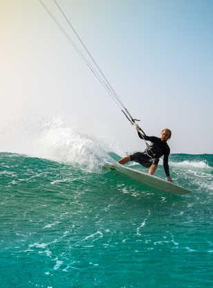 Kitesurfeur à Fuerteventura
