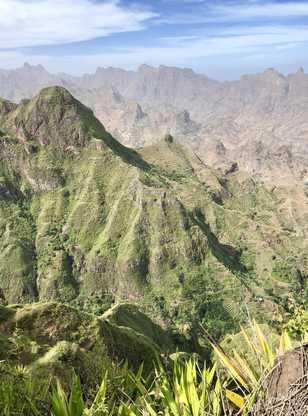 Montagnes vertes du Cap Vert