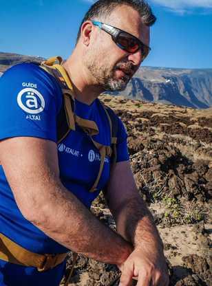 Notre guide Claudio dans le parc national du Teide Tenerife