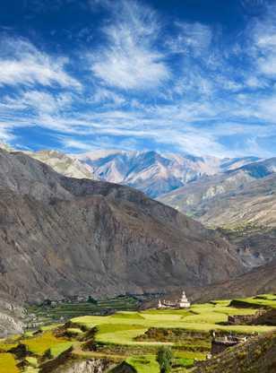 Village de Saldang à Dolpo, Népal Himalaya