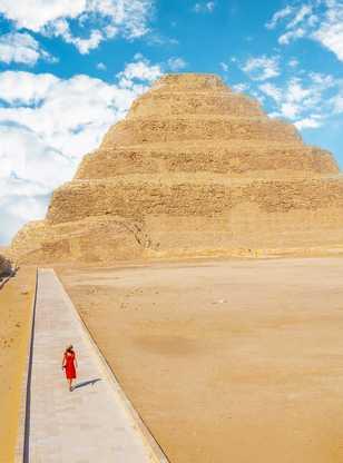 Visite d'une pyramide Djoser, Saqqarah, Mem
