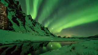 Photo d'aurores boréales en Islande
