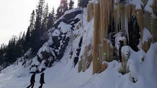 Cascade de glace à Hossa, Finlande