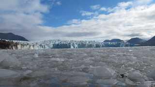 Glacier du Svalbard, templefjord, Spitzberg