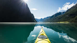 kayake de mer dans les Lofoten