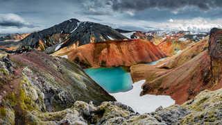 Montagnes volcaniques rhyolites colorées de Landmannalaugar, Islande
