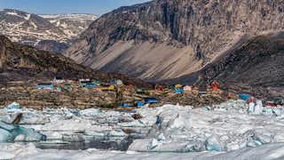 Qeqertaq au Groenland l'été