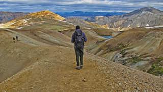 Photo de randonneurs au Landmanalaugar