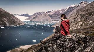 Randonneur dans le Sud Groenland, Qooroq