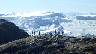 Trek au groenland baie de Disko