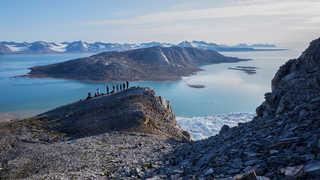 Voyage arctique au Spitzberg, vue sur la Baie du roi